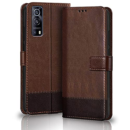TheGiftKart Dual-Color Leather Finish iQOO Z3 5G Back Cover