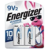 Energizer 9V Batteries, Ultimate Lithium, 2 Count