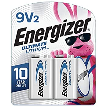 Energizer 9V Batteries Ultimate Lithium 2 Count