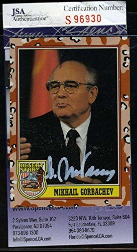 MIKHAIL GORBACHEV Signed JSA COA Topps Desert Storm Card Authentic Autograph