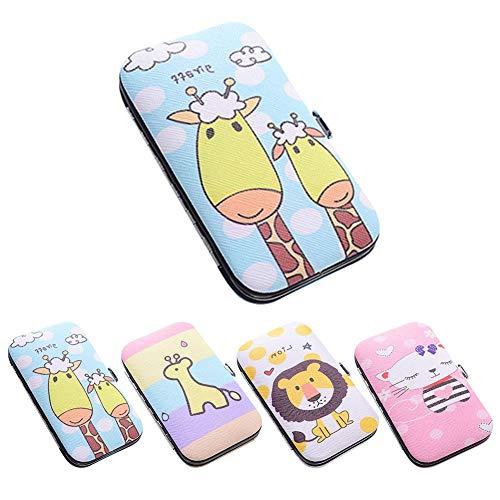 Duokon Draagbare manicure-gereedschapsset, 7-delig, met cartoon-koffer, manicure-set