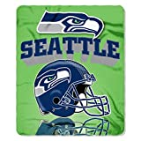 NFL Seattle Seahawks Gridiron Fleece Throw, 50-inches x 60-inches