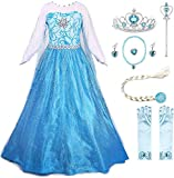 Newest design with silver lace waist belt No itchy. Handwash and line dry The dress is made of super comfy and non scratchy material Dress your little girl as the likeliest Princess you have never seen Great for Birthday parties, special occasions an...