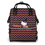 Mochila para pañales - Happy Halloween Kitty Witch multifunción impermeable mochila de viaje maternidad pañales cambiantes bolsas