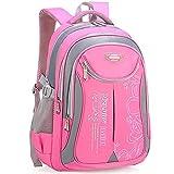 UKKD Mochila Escolar Bolsas De La Escuela para Niños para Niñas Nylon Mochilas Mochilas Mochilas Infantil Bolsa-Pink