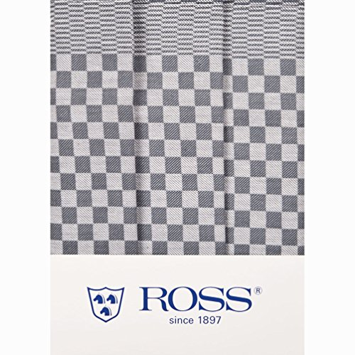 Ross 3er Pack Baumwoll-Geschirrtücher Gebild Silber 45x65 cm