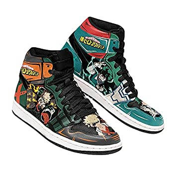 Bakugou and Deku Sneakers MHA Anime Shoes MN11 Mens Womens Basketball Shoes Custom Trainers Casual Shoe
