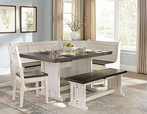 Carriage House Breakfast Nook with Side Bench and Single Chair