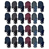 Yacht & Smith 48 Pack Wholesale Bulk Winter Thermal Beanies Skull Caps, Thermal Gloves Unisex (Hat Glove Set A)