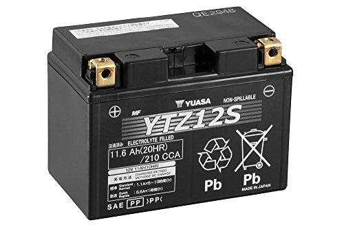 Batterie YUASA YTZ12S, 12V/11AH (Maße: 150x87x110) für Yamaha XT1200 ZE Super Tenere Baujahr 2015