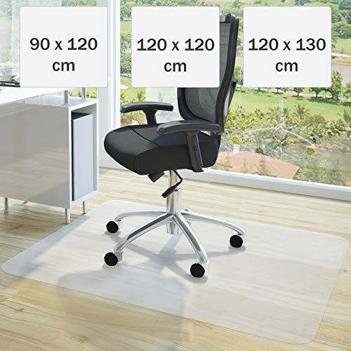 Bodenschutzmatte 90x120cm - wahlweise in Grössen 90x120cm, 120x120cm oder 120x130cm, Farbe weiß...