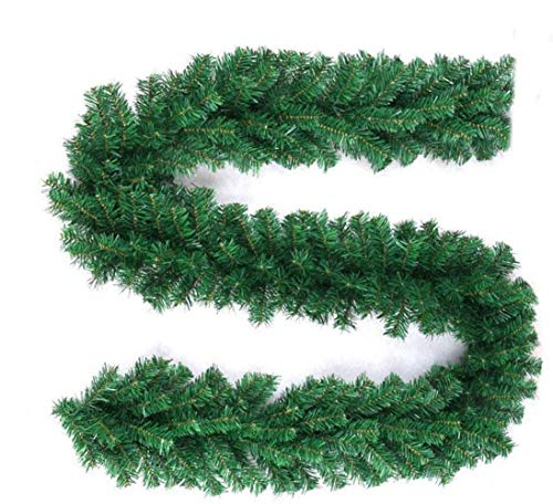 Pataku 9 FT Christmas Garland Greenery, Artificial Pine Garland for Xmas Indoor Outdoor Decor, Premium Christmas Garland Decorations for Fireplace, Mantel, Stairs Railings, Front Door (12 Pack)