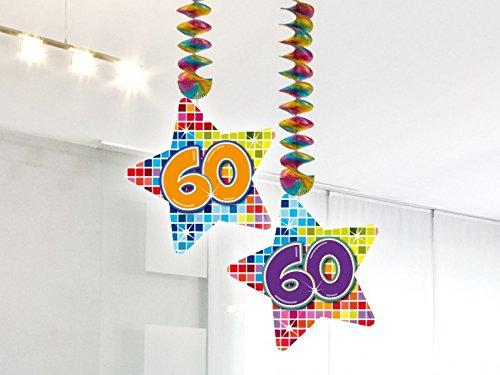 2-delige verjaardag hangdecoratie 60 jaar slinger party decoratie