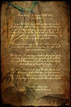Imagekind Wall Art Print Entitled Prints Tecumseh Poem - Act of Valor Movie by Wayne Moran | 16 x 24