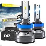 DXZ Bombilla H11 H8 H9 LED Coche - Lámpara Luz 12000LM 6500K Blanca - Faros Reemplazo de Halógena y Xenón Kit CSP - Garantía de 1 años (H11 (H8 H9))
