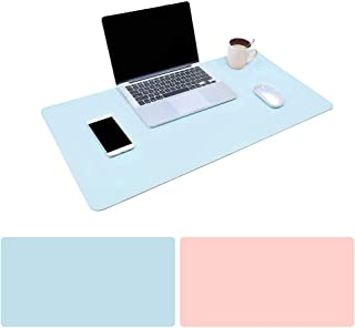 Mouse Pad Large Size 31.4 * 15.7 * 0.06 inch Double Sided Color Desk Pad with PU Leather XXL Mousepad for Laptops/Computer...