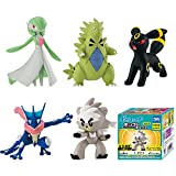 5 Pz Pokemon Anime Spada Scudo EMC Gardevoir Kubfu Tyranitar Greninja Umbreon Ms Box Vol4 5 Cm, PVC Action Figure Modello Collezione Giocattoli, Regali per Bambini