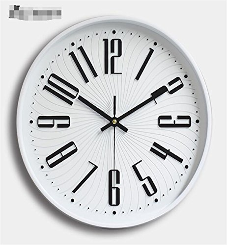 Sucastle® 12 in el plastico Reloj de Pared 3D con Números