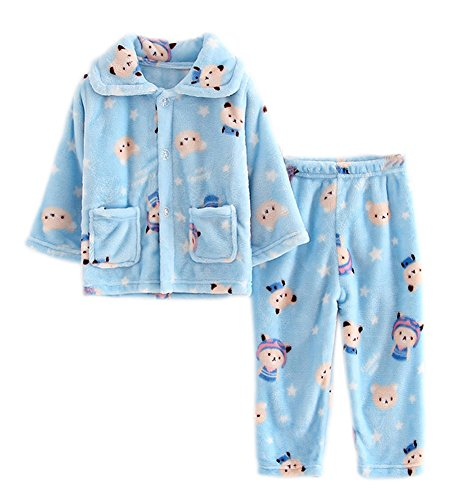Blue Bear flanelle enfants Pajama doux Dors Coral Velvet Pyjamas Nightcloth