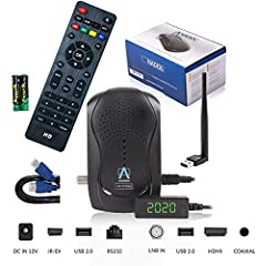 Anadol HD 777 met PVR opnamefunctie Timeshift - 1080p HD HD digitale mini-satellietontvanger - 1080p mini-ontvanger Minisatreceiver vooraf geïnstalleerd voor Astra - 12V Camping + HDMI-kabel + USB WiFi Stick*