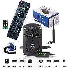 Anadol HD 777 avec fonction d'enregistrement PVR Timeshift - 1080p HDTV HD numérique récepteur sat - 1080p Miniréceiver Minisatreceiver préinstallé pour Astra - 12V Camping + câble HDMI + clé USB