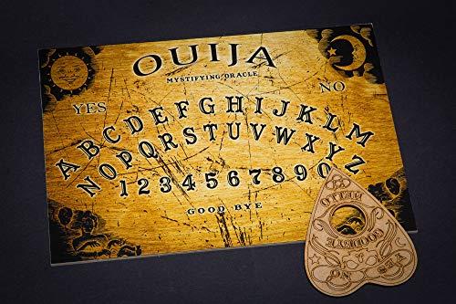 WICCSTAR Hölzernes Ouija Brett. Hexenbrett mit detaillierten anweisungen (in englisch). Ouija Board