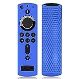 Hydream Funda de Silicona para Fire TV Stick 4K Control Remoto [Antideslizante] [Shockproof] Cubierta Protectora de Silicona para Fire TV Stick con Alexa Voice Remote (Azul)