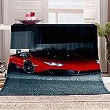 ZSDWGL Mantas para Sofás Microfibre Extra Suave Multifuncional para sofá Cama Viajes Viajes Adultos niños 130 x 150 cm Superdeportivo Rojo