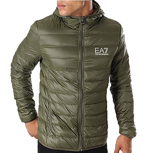 Emporio Armani EA7 Mens Train CORE ID DOWN Light HD Kaki Daunenjacken XXL