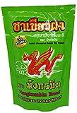 Té verde con sabor a jazmín - Polvo de té de hierbas tailandés - Marca Mungkornbin - Bolsa de 200 g