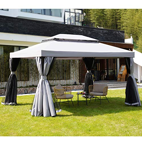 Grand patio 10x13 Feet Patio Gazebo, Outdoor Instant Canopy with...