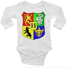 Harry Potter Hogwarts Crest Long Sleeve Unisex Onesie (Preemie)