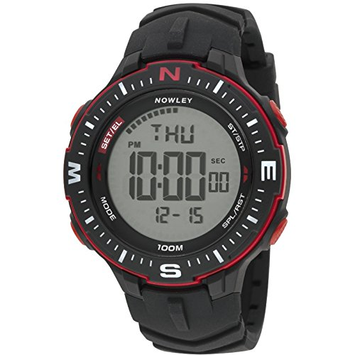 Nowley 8-6238-0-1, Reloj de Hombre, Digital, Negro y Rojo.