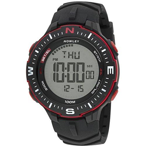 Nowley 8-6238-0-1, Reloj de hombre, digital, negro y rojo