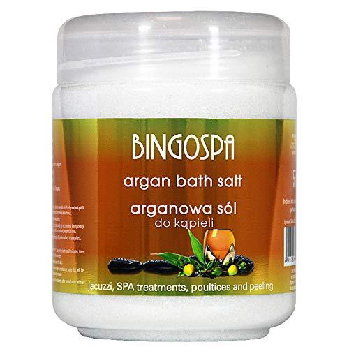 BINGOSPA Sales de baño de argán para jacuzzi, tratamientos SPA y peeling - 550g