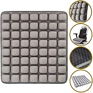 SUNFICON Air Inflatable Seat Cushions Portable Breathable Comfort Cushion Car Seat Office Chair Wheelchair Pad Anti Bedsore Orthopedics Pain Pressure Relief Cushion Camping Seat Mat 18'' x 16'' Gray