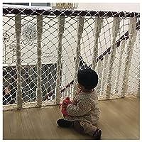 屋外カーゴネット白バルコニー用保護ネット階段手すり子供用セーフティネットプレイグラウンドフェンスネット8cmメッシュ6mmロープ(サイズ:1x1m(3x3ft))(Size:4*8m(13*26ft))