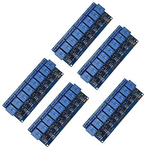 UEB, 5x 8-Kanal 12V Relais Modul Relais Shield Modul für Arduino UNO 25601280Arm Pic