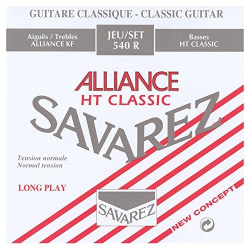 Savarez Cuerdas para Guitarra Clásica Alliance HT Classic 542R cuerda suelta Si2 Carbon standard, adecuado para juego 540R, 540ARJ, 540RH, 500AR, 500ARJ, 510AR, 510ARJ