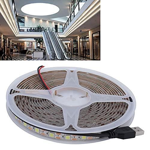 QIRG Cinta de luz LED, Tira de luz 15W 5M / 16.4Ft para iluminación de decoración del hogar Cajas de computadora para Fondos de TV Vallas publicitarias Centros comerciales