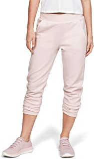 Under Armour Women's Double Knit Track Pants, Pink (Apex Pink/Onyx White), Medium