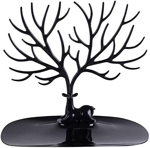 XYDZ Árbol de Soporte de Joyería, Soporte de Exhibición de Almacenamiento de Árbol de Asta de Bosque se Puede Colgar para Organizar o Exhibir Joyas, Negro