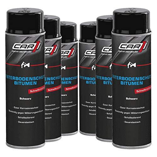 Unterbodenschutz 6 x 500 ml schwarz Bitumen Steinschlagschutz Spray Car1