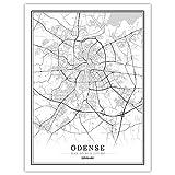 Lonfenner Leinwand Bild,Odense Dänemark Abstrakte Farbe