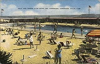 Golf and Tennis Club Hotel Del Coronado Coronado, California Original Vintage Postcard