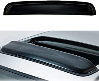 MGPRO 36.8`` Moon Sun Roof Guard Block Wind Black Dark Smoke Smooth w/ 3M Tape [Measure Require Before Purchase]