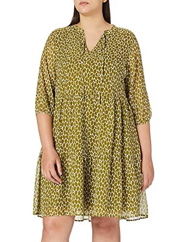 Samoon Kleid Gewirke Vestido, Aguacate Green Pattern, 52 para Mujer
