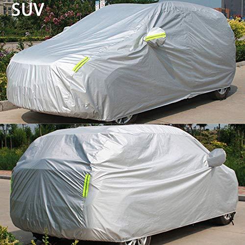 JXSMWH Auto-accessoire, complete autohoes, voor buiten, hagel, waterdicht, bescherming tegen sneeuw, automatische zonneklep, voor limousine SUV