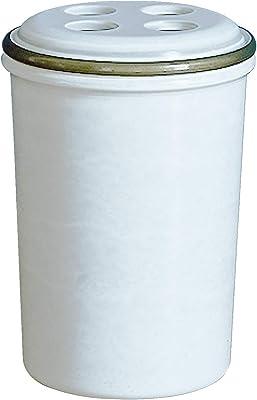 素地のナカジマ 歯ブラシスタンド ホワイト 約直径8×高さ11.6cm MUDDY RING (日本製) 19-457184