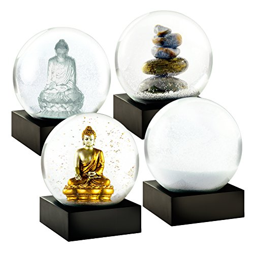 CoolSnowGlobes Zen Mini Set of Four Snow Globes